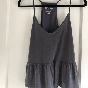 American Eagle Outfitters Soft & Sexy Peplum Tank